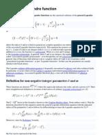 Associated Legendre function