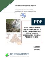 Rapport de Préidentification Des Retenues Colinéaires Dans La Région Du Nord