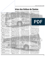 Itinerário dos ônibus de Santos