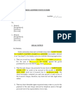 Cheque Bounce Legal Notice Format