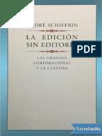 Schifrin la edicion sin editores