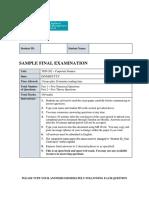 t1 2020 Tfin202 Sample Final Exam