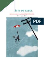 REVISTA RAÍCES DE PAPEL  Nº 1- INVIERNO 2009