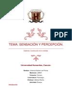 Resúmen Integración Sensorial - Johanna Lee - Psicología 3er Trimestre Humanitas