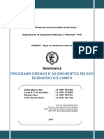 Programa DRENAR e as enchentes em São Bernardo do Campo