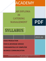 The Syllabus for 2015-2016 for Kukreja Institute