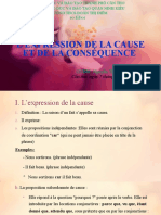 L'EXPRESSION DE LA CAUSE ET DE LA CONSÉQUENCE