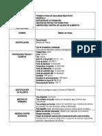 FICHAS DE SEGURIDAD PREPARACION DE SOLUCIONES