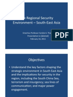 Thayer Regional Security Environment Southeast Asia