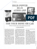 High Power Audio Amp for Home or Car