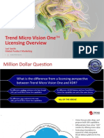 Trend Micro Vision One Licensing Overview 2021