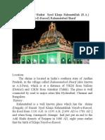 Brief Biography Hadrat Syed Khaja Rahmatullah