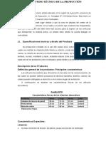 ESTUDIO TÉCNICO DE LA PRODUCCIÓN