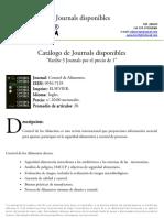 Catalogo de Journals disponibles