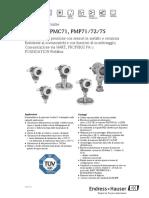 CERABAR M - PMC 751 - PMP 71 - PMP72 - PMP 75