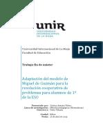 Adaptación del modelo de Miguel de Guzmán para la resolución cooperativa de problemas
