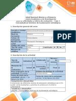 Guia de actividades y  rúbrica de evaluación Fase 1  conceptualizar terminos de la  planeación estategica-1
