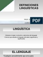 1. Definiciones Linguísticas (1)