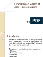 Power Transmission System of Tractor - Clutch