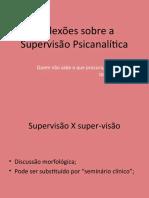 1. Reflexões Sobre a Supervisão Psicanalítica