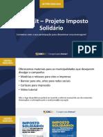 4. Mídia kit Contribuição do Imposto de Renda nas ações sociais dos Municípios
