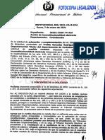TCP disposición sobre inhabilitación