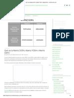 Qué es la Matriz DOFA, Matriz FODA o Matriz DAFO - deGerencia.com