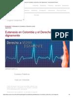 Eutanasia en Colombia y el Derecho a morir dignamente - Universidad del Rosario