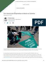 Tres razones para despenalizar el aborto en Colombia _ Human Rights Watch