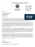 Ulster County Legislature Letter to Gov. Cuomo, 2-24-21