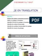 Guidage en Translation