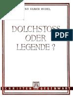Hans-Ulrich Rudel - Dolchstoß Oder Legende