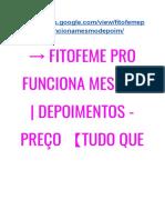 G1 → Fitofeme Pro FUNCIONA? | Depoimentos - Preço 【Tudo Que Você Precisa Saber】