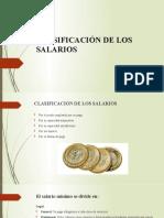 CLASIFICACIÓN DE LOS SALARIOS