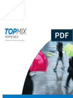 Topmix Permeable Summary of Benefits