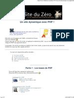 Un Site Dynamique Avec PHP ! - Le Site Du Zéro