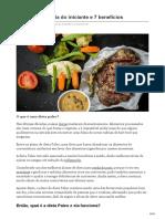 Dieta Paleo o Guia Do Iniciante e 7 Benefícios
