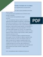 ACTIVIDAD EL PARAMILITARISMO EN COLOMBIA