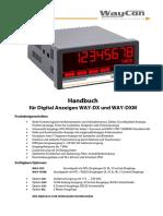 Anzeige-Inkrementale-Sensoren-WAY-DX-WAY-DXM-Handbuch