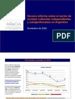 Noveno Informe Revistas Culturales ARECIA