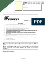 2ª Fase Fuvest DIA 2 (Matérias Medicina Pinheiros 2011-2020)