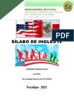 SILABO-INGLES IV-CALIXTO-ECONOMIA