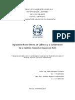 Agrupación Barrio Obrero de Cabimas y la conservación de la tradición musical en la gaita de furro