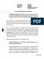 Recurso de AGRAVIO CONSTITUCIONAL - CONSORCIO DHMONT & CG & M S.A.C. - Exp. 382-2008 - 25 NOV 2008. Collique