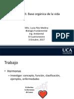 Base orgánica de la vida Clase 3