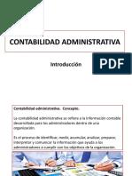CONTABILIDAD ADMINISTRATIVA INTRODUCCIÓN Y TIPOS DE COSTOS