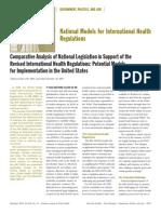 National Models for International Health Regulations