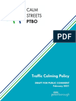 City of Peterborough draft traffic calming policy