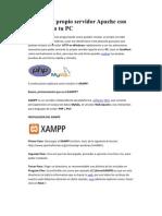 Armate tu propio servidor Apache con XAMPP en tu PC