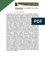O TRABALHO DA FONOAUDIOLOGIA NA EDUCAÇÃO DE JOVENS E ADULTOS